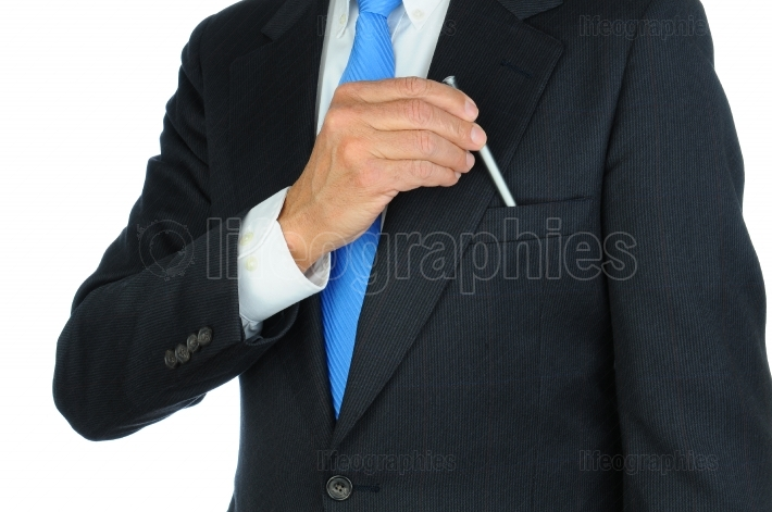 Businessman Taking Pen From Pocket