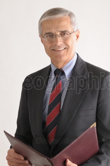 Businessman with Leather Folder