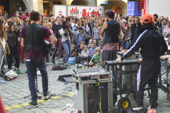 Buskers street music festival from Bern