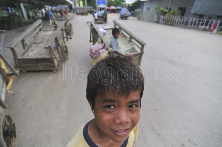 Cambodian children at work