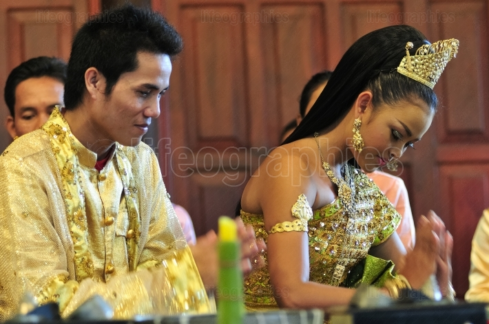 Cambodian traditional wedding ceremony