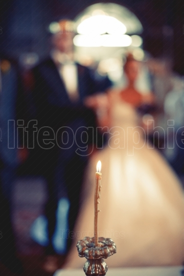 Candle at wedding ceremony