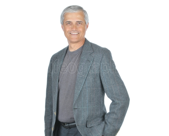 Casual Businessman in Tee Shirt and Jacket