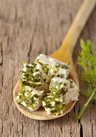 Cheese with herbs
