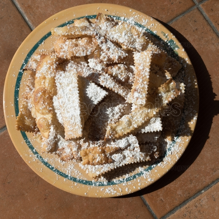Chiacchiere, traditional  carnival pastry