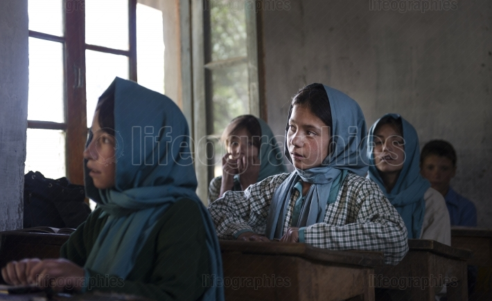 Children's at government school from Shimshal village. Gilgit, Pakistan.