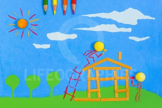Children's play: Building a home