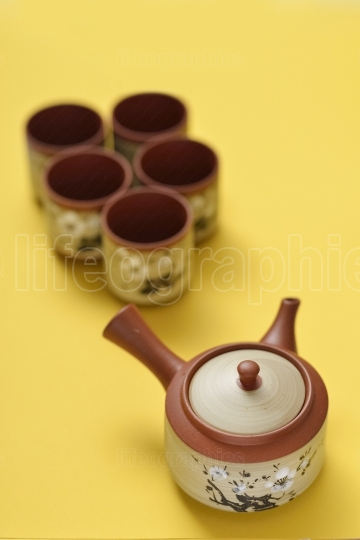 Chinese style teapot and teacup