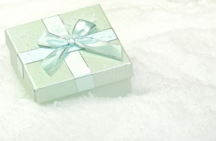 Christmas present in snow