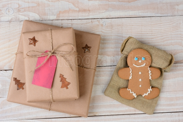 Christmas Presents and Gingerbread Man