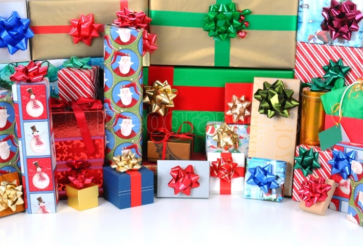 Christmas Presents with copyspace