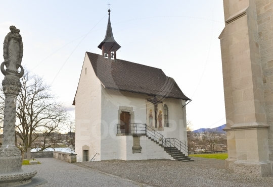 Church inside the Rapperswil castle