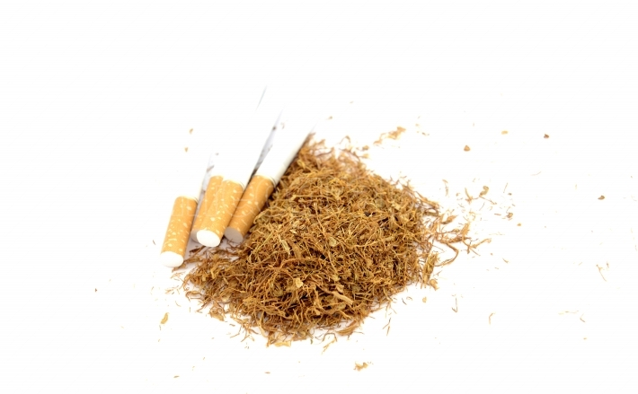 Cigarettes and tobacco , close up