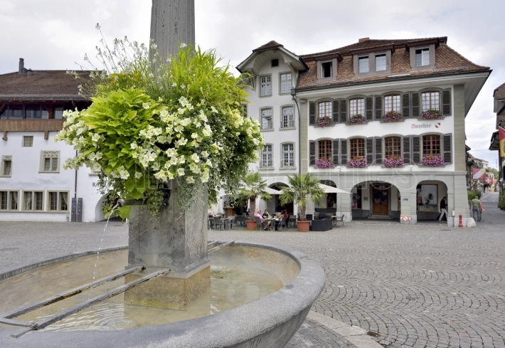 City Hall Square in Thun, Switzerland