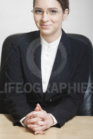Classic portrait of a young business woman