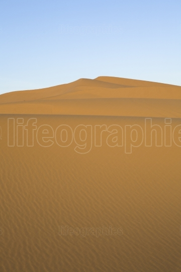 Clean sand hill at Merzouga, Morocco