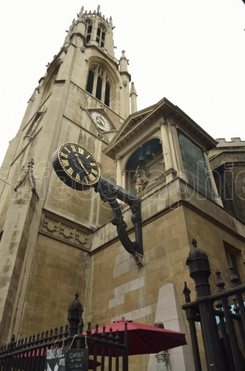 Clock on a typical church from london. uk