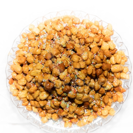 Close up of  struffoli
