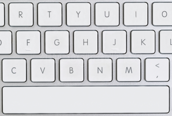 Close up of a partial computer keyboard