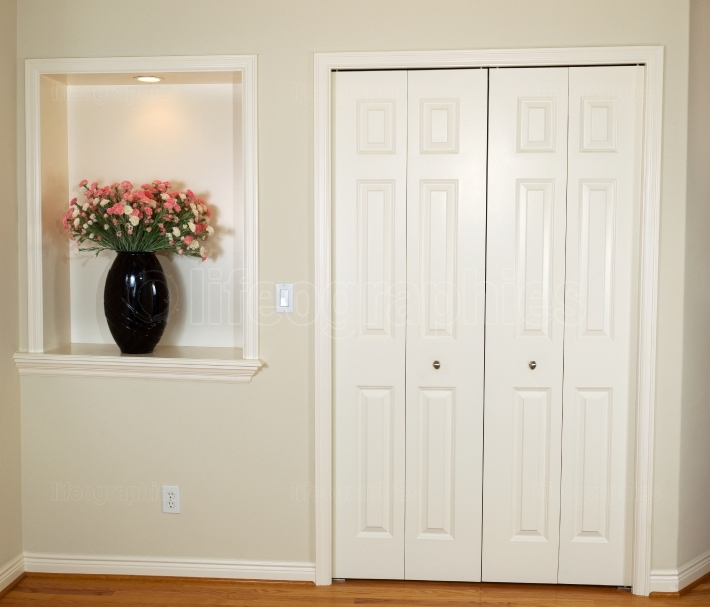 Closed Closet Doors in Home