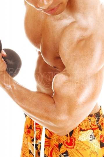 Closeup of biceps