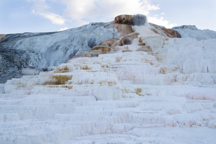 Closeup of Mammoth Hot Springs in Yellowstone National Park