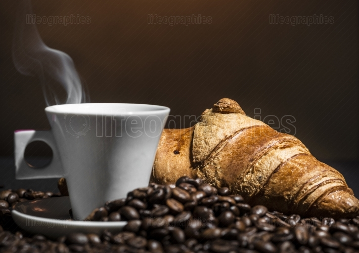 Coffee and croissant break
