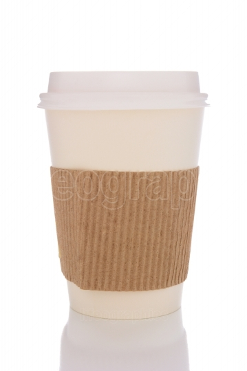 Coffee Cup With Cardboard Protector