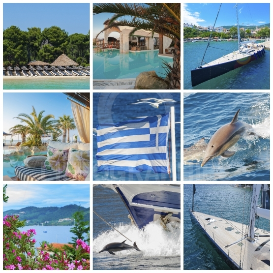 Collage of Grecce images
