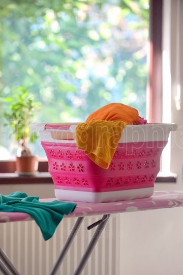Collapsible Silicone Laundry Basket