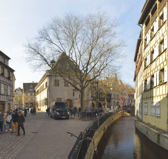 Colmar city, which is a replica of a 16th Century French village.
