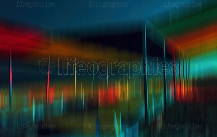 Colorful beach bar abstraction