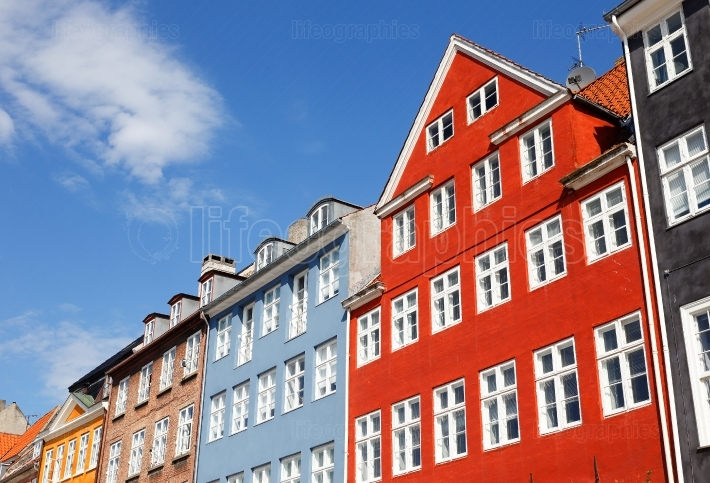 Colorful building exteriors