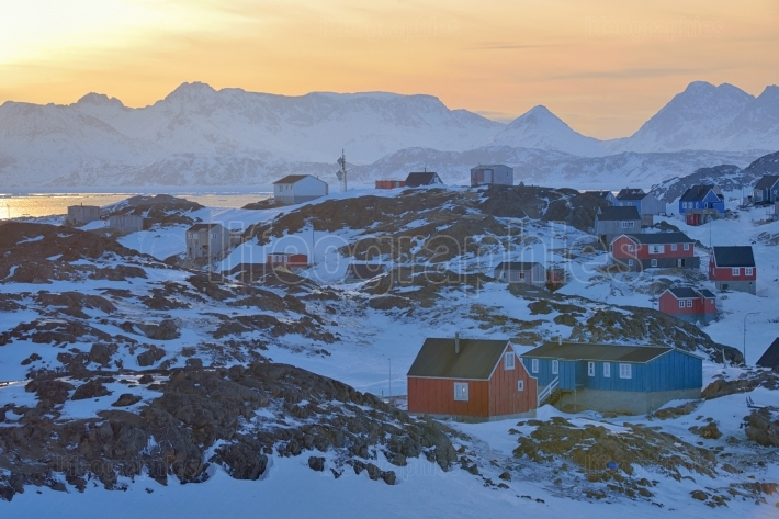 Colorful houses in Greenland
