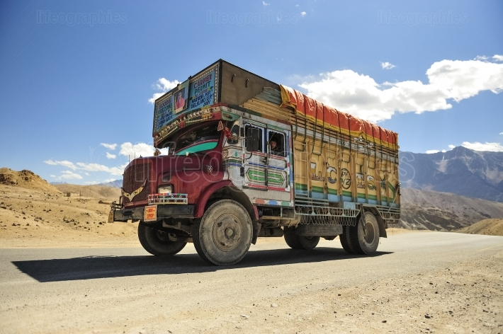 Colorful indian truck