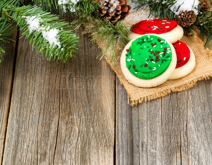 Colorful sweet sugar cookies for the holiday