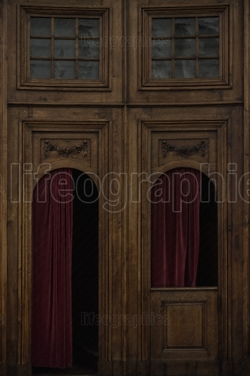 Confessional booth