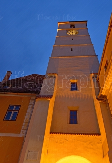 Council tower in sibiu city in romania
