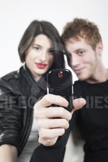 Couple taking pictures