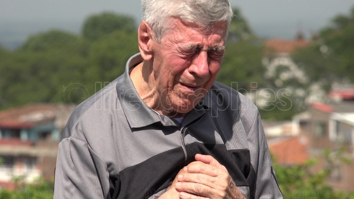 Crying Old Man Or Senior