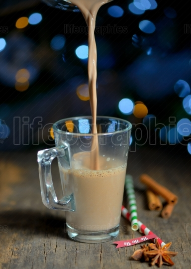 Cup of hot cocoa beverage