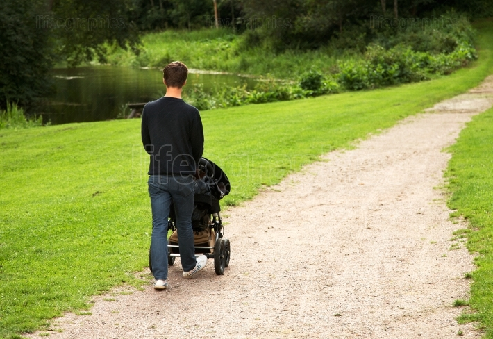 Dad with stroller