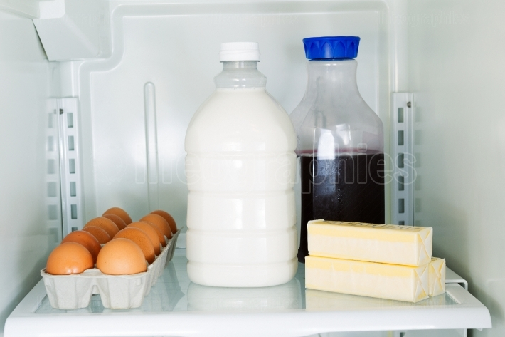 Daily Products in Refrigerator
