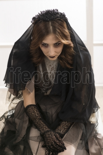 Dark Beautiful Gothic Princess Halloween party.