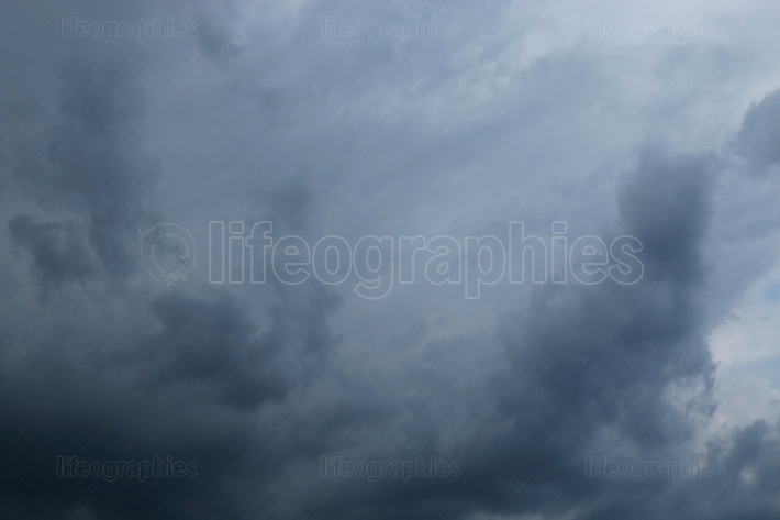 Dark sky with storm clouds