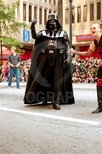 Darth Vader Character Walks In Atlanta Dragon Con Parade