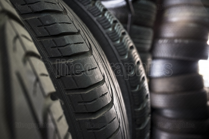 Detail of used or part worn tyres for sell