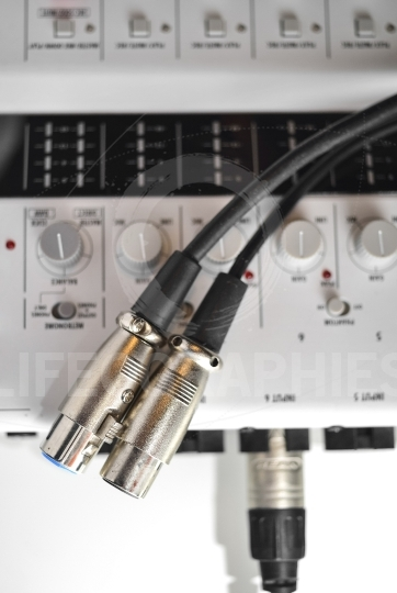 Detailes of a xlr audio digital cables