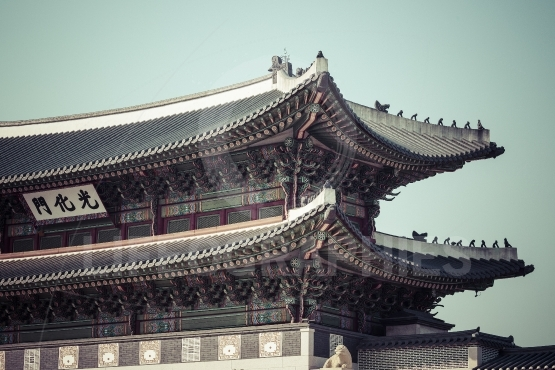 Details of  Gyeongbokgung  Palace. Traditional Architecture in K