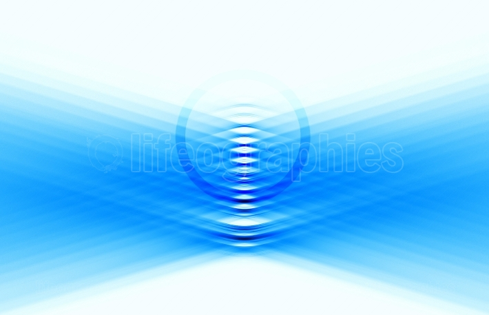 Diagonal blue bended lines with circle illustration background